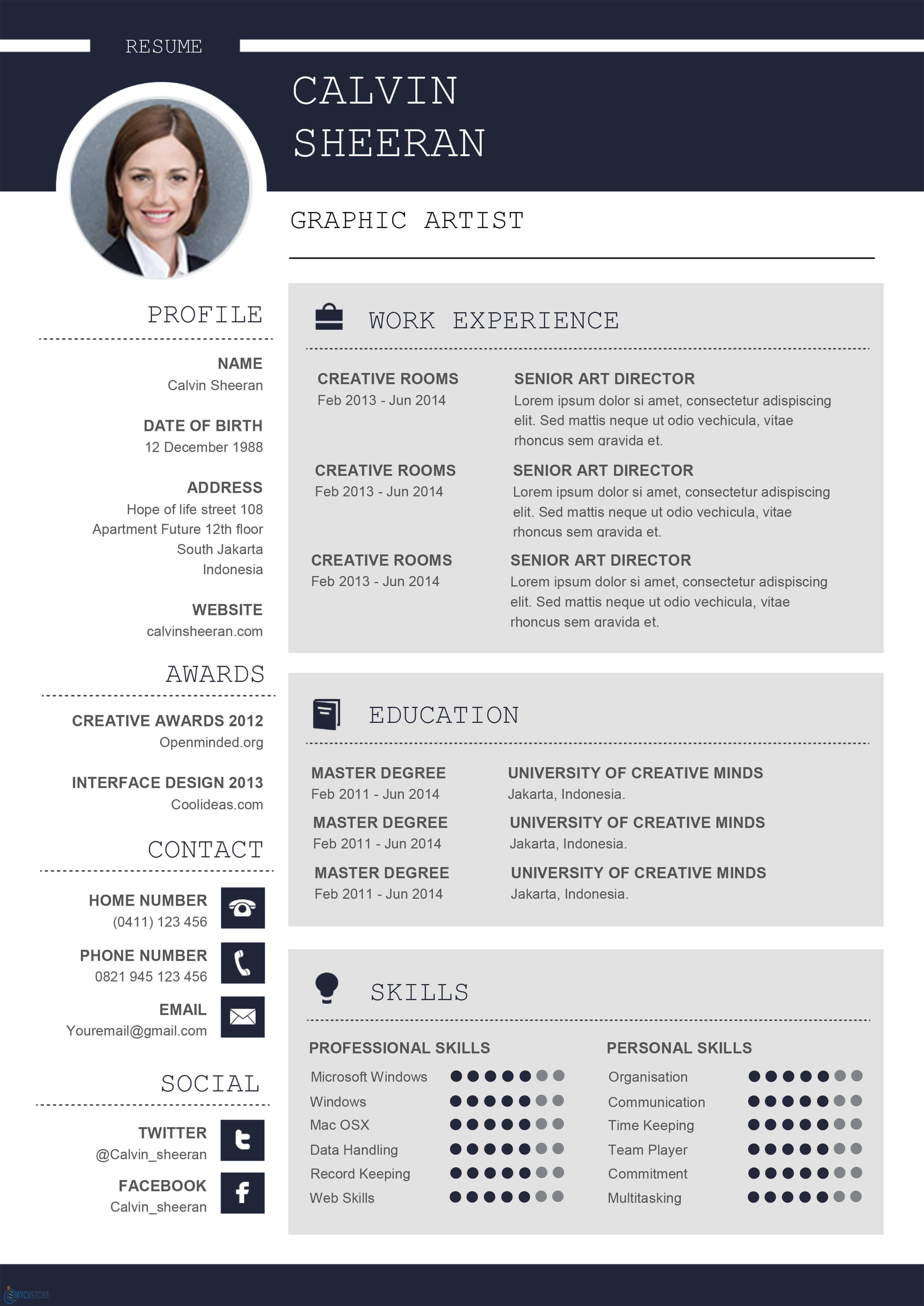 Modèle de CV Professionnel Word à Télécharger au Format Word
