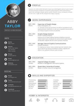 Elegant Designer CV Template