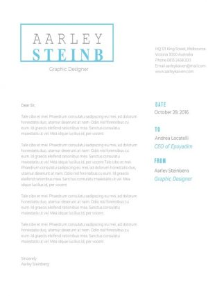 Modern Minimalist Cover Letter Template