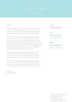 Simple Minimalist Cover Letter Template