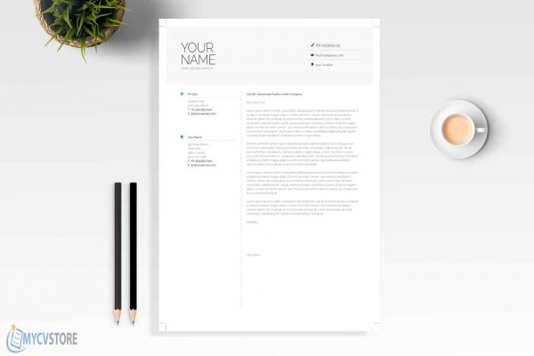 Clean Infographic Cover Letter