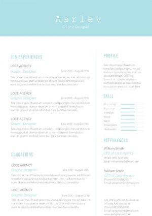 Clean Minimalist Resume/CV Template