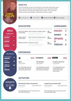 Modèle de CV propre et audacieux