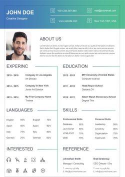 Modèle de CV d'entreprise propre