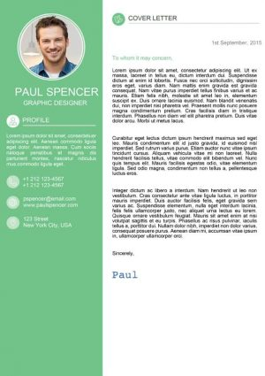 Green Modern Cover Letter Template