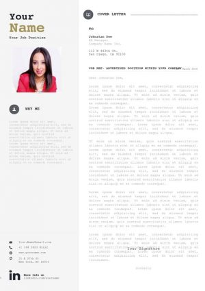 Bold Cover Letter Template
