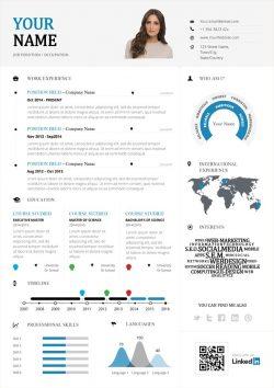 Modèle de CV Créatif Infographie