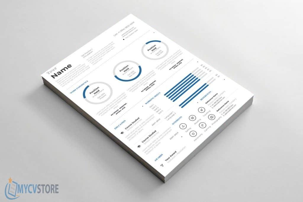 mod u00e8le de cv de style infographique au format word  u00e0