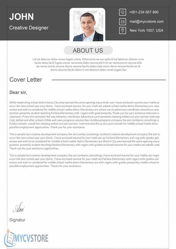 mod u00e8le lettre de motivation cadre design