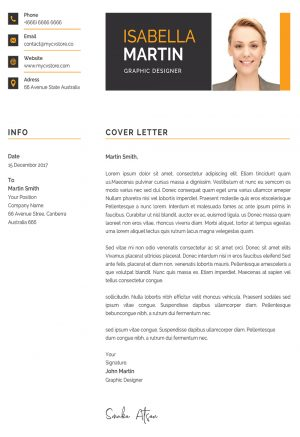 Clean Cover Letter Design