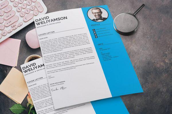Clean Design Cover Letter 1