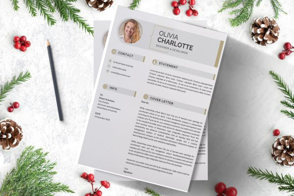 Infographic Cover Letter Design