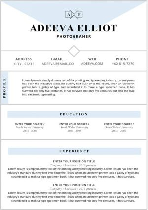 Editable Indesign Resume Template