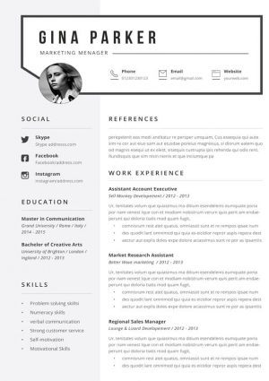 Gina Resume Template