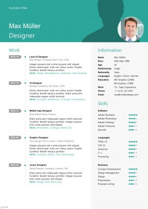 Swiss Style Resume Template