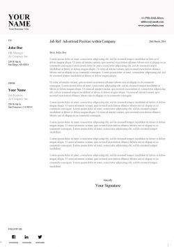 Clean Word Cover Letter