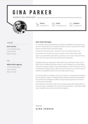 Gina Cover Letter Template