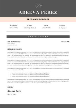 Designer Cover Letter Sample Template