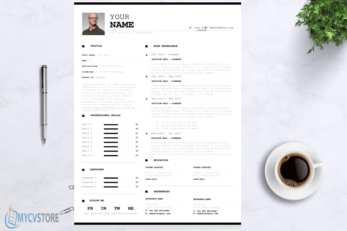 Infographic Resume/CV Template