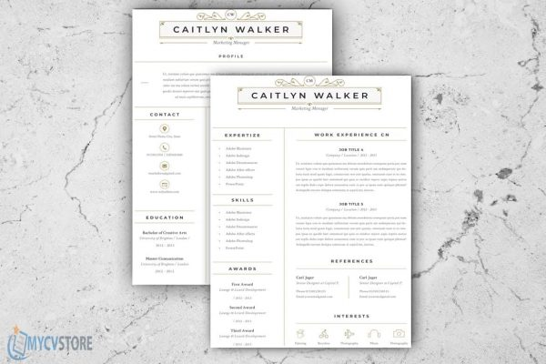 Resume Caitlyn Template