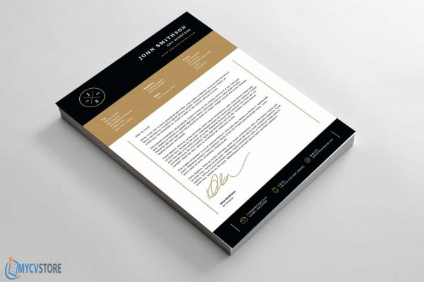 Clean Bold Cover Letter Template