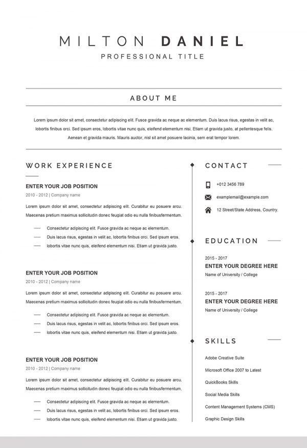Exemple de CV Professionnel Word