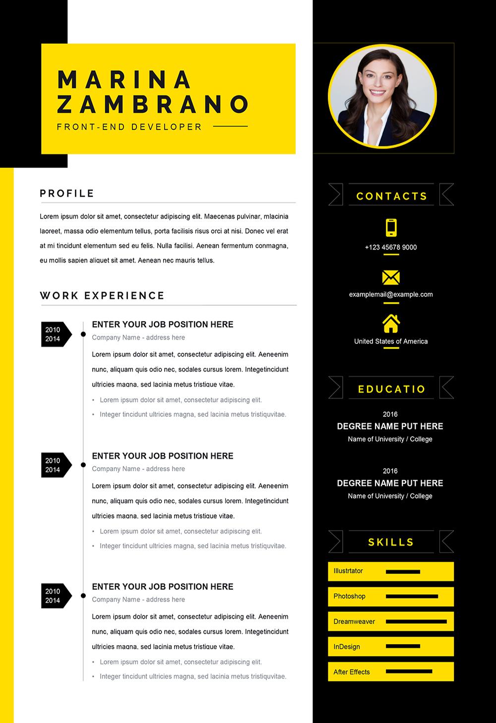 Exemple de CV pour Travailler à Télécharger au Format Word