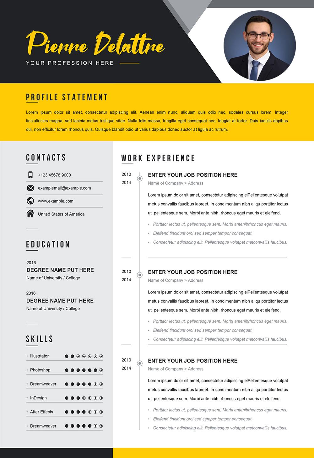 Exemple de CV pour Job à Télécharger au Format Word