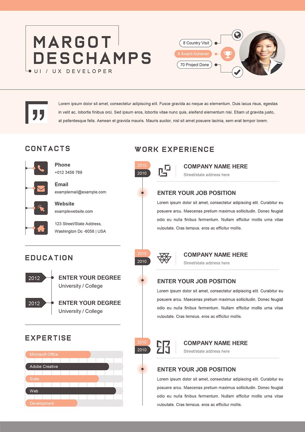 Exemple de CV Consultante Marketing - Modèles de Résume