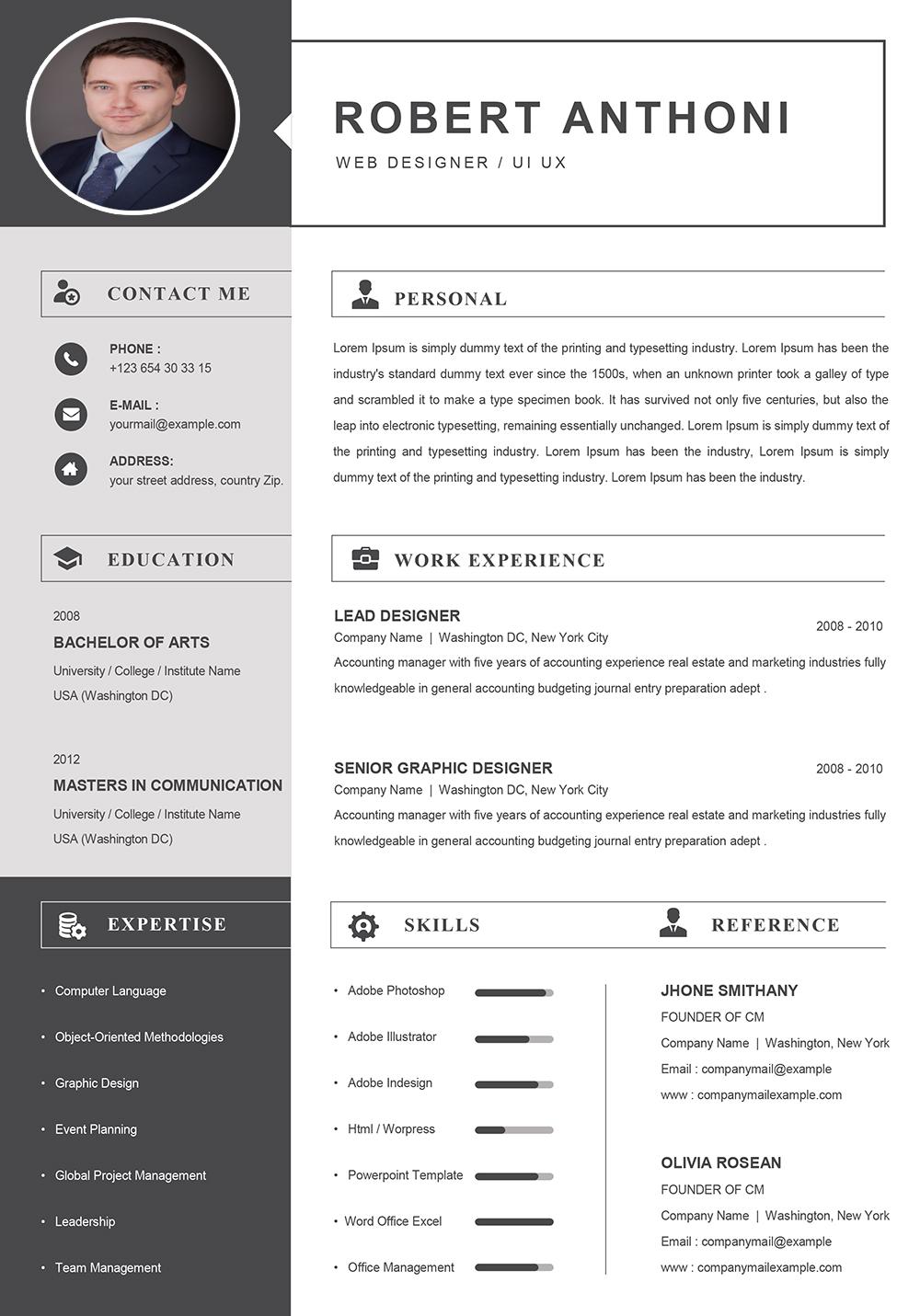 Modèle de CV Informatique Format Word à Télécharger