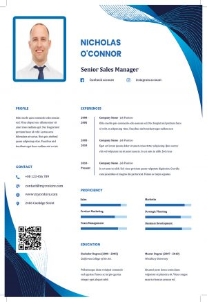 Clean Resume CV Template Word Format