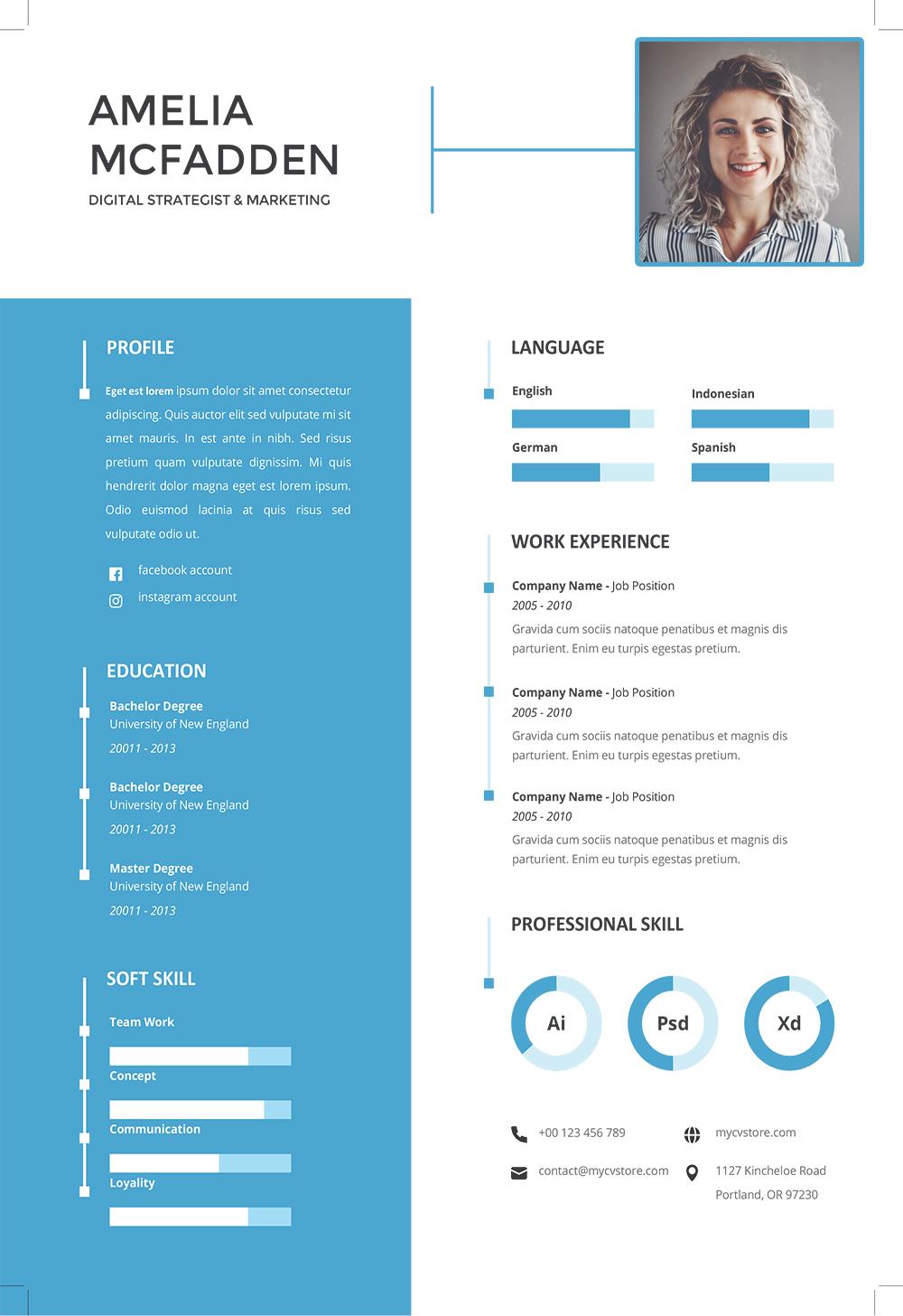 Exemple de Modèle de CV Junior à Télécharger au Format Word