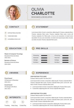 Resume Infographic Design